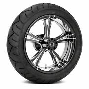 For Harley-davidson Road King 09-18 Fierce Rear Wheel Kit W Tires And Rotors