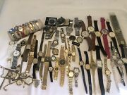 Vintage Top Brands Mens And Womans Wrist Watches Many Working, Some For Parts