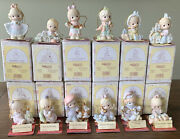 Precious Moments Ornaments 12 Days Of Christmas Complete Set 1-12 W/boxes And Tags