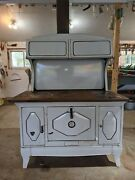 Antique Kalamazoo Wood Cooking Stove - White - Good Condition - Pick Up Only