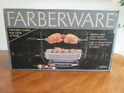 Farberware 455n Open Hearth Electric Broiler Rotisserie Barbecue Grill Sealed