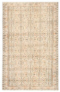 Hand-knotted Turkish Carpet 5and0393 X 8and0393 Melis Vintage Traditional Wool Rug