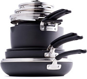 Greenpan Levels Stackable Hard Anodized Ceramic Nonstick, Cookware Pots And Pans