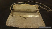 Heavy Antique Sterling Silver Fine Mesh Purse Bag 465 Grs Old Collectible Xixth