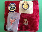 Military/ministry Badges-hms Gambia-civil Defence Corps-victory-rna-ww11-rn-navy