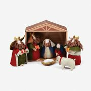 Holiday Time Assorted Colors Fabric Nativity Scenes, 4.72 X 10.43 8 Piece