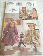 Vogue 18 Doll Party Dresses Sewing Pattern 9965 From 1998