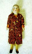 Antique All Bisque Grandmother Doll Germany Dollhouse Miniature