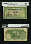 Currency 1929 Palestine Currency Board 1 Pound Banknote P 7b Pmg Choice Fine 15