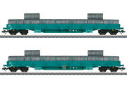 Marklin 47107 Ho Italian State Railroad Low Side Cars With Wire Load Set Of 2