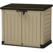 Outdoor Patio Plastic Resin Horizontal Heavy Storage Shed Weather-resistant New