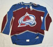 Colorado Avalanche Size 54 = Xl - Prime Green Adidas Nhl Authentic Hockey Jersey