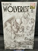 Death Of Wolverine 1 Alex Ross 1300 Sketch Variant Cover Marvel Comics 75th