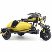 Free Shipping Oversized Metal Tin Toys Motorcycles Motorcycles Sidecars Yellow