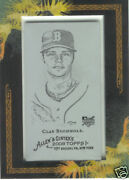 2008 Allen @ Ginter Clay Buchholz Rc Printing Plate 1/1