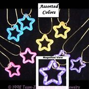 Funky Cute Bff Best Friends Star Necklaces Novelty Charm Costume Jewelry-one Set