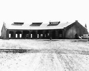 1959 Albany Or Oregon Pacific Railroad Roundhouse Photo