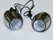 1969 1970 Ford Mustang Back Up Lamp Body And Socket Reverse Lights Pair