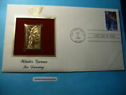 Ice Dancing Olympics 22kt Gold Stamp Commemorative Stamp