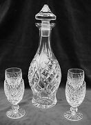 Decanter And 4 Wine Glasses Donegal By Waterford Crystal