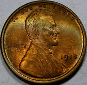 1918 Lincoln Cent Superb Gem Bu++rb With Awesome Color