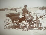 Antique Original 19th Russian Photo Russia Men Carriage With Horse Photograph