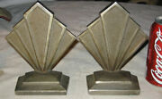 Antique Hubley Cast Iron Architectural Industrial 306 Bookends Steam Punk Art