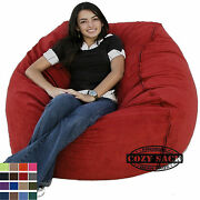 Large Bean Bag Chair Factory Direct Cozy Sack 4' Cozy Foam Filled Comfort