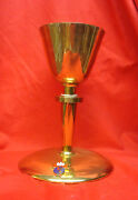 Knights Of Columbus 4th Degree Chalice 24kt Gold Plated Sterling Silver Cup 7