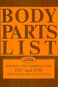 1937  1938  Ford Model A Body Parts List-covers Passenger And Commercial Cars