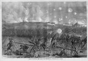 Civil War History Charge Of The Ninth Army Corps On Fort Mahone Flag Swords