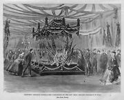 President Abraham Lincoln's Funeral, The Catafalque At City Hall, 1865 Chicago