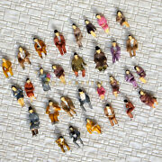 600 Pcs Ho Scale All Seated People Sitting Figures Passengers Well Painted B30p