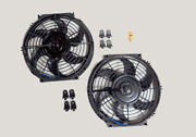 10 Dual Electric Radiator Fan With 185 Degree Temperature Thermostat Switch New