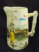 Adorable And039gibson Girland039 Lady Dandc Limoges Month Of May Pitcher