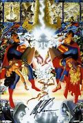 Crisis On Infinite Earths 1998 Hard Cover - Autographed By Alex Ross W/poster