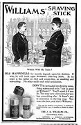Williams Shaving Stick, 1898 Antique Advertisement, Soothing And Refreshing