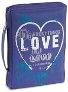 Purple Do Everything Love Microfiber Bible Book Protection Carrying Case Cover