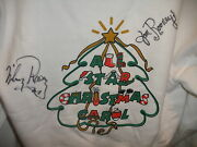 Jan And Mickey Rooney Signed Auto All Star Christmas Carol Jerzees Hoodie