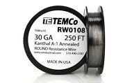 Temco Kanthal A1 Wire 30 Gauge 250 Ft Resistance Awg A-1 Ga
