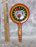 Vintage Tin Hand Held Toy Clown Noisemaker Auction Find Age Unknown