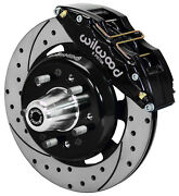 Wilwood Disc Brake Kitfront55-57 Chevy12 Drilled Rotors6 Piston Bk Calipers