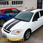 2005-2010 For Chevy Cobalt 8 Rally Racing Stripes Decal Sticker Vinyl Wrap Hood
