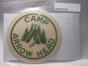 Boy Scouts Felt Camp Patch Camp Arrow Head Maybe Canada Caft2