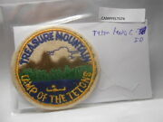 Boy Scouts Felt Camp Patch Treasure Mountain Camp Of The Tetons Id. Caft74
