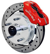 Wilwood Disc Brake Kitfront41-55 Cadillac11.75 Drilled Rotorsred Calipers