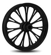 Rc Components Imperial Black 21 Wheels Package Set Tires Harley Flh/flt 09-13