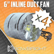 6 Inch Inline Duct Fan Exaust Booster Blower Case Of 4 250 Cfm Air Cool Boost X4