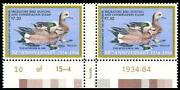 Momen Us Stamps Rw51x P Pair Special Printing Mint Og Nh Pf Cert