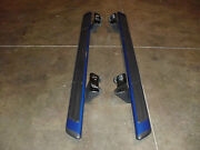 Oem Ford F-150 F150 Running Boards Set Kit Nerf Bars Ext Cab Blue 2009-14